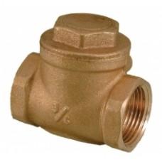 Клапан обратный горизонтальной Ду-15 латунный (GTN)